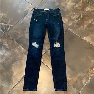 Frame Denim Skinny Ripped Jeans - Size 26
